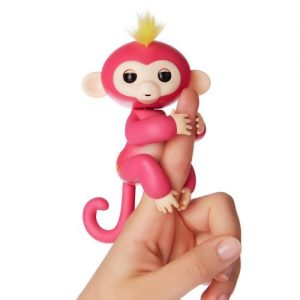 WowWee Fingerlings - Interactive Baby Monkey - Bella (Pink with Yellow Hair) By WowWee