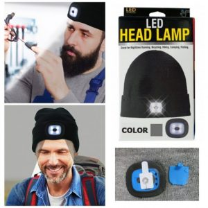 Beanie Cap 4 LED Flashlight Hat 2