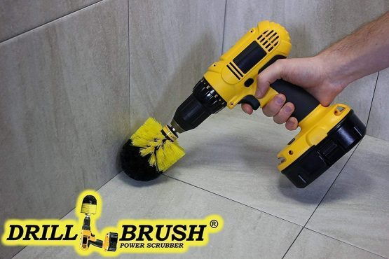 With the cordless drill brush insert you can finally get those tough stains and dirt off of those surfaces in and around your house. Best of all, is that you already have a cordless drill.