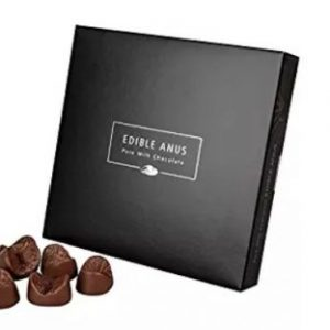 Edible Anus Milk White Belgian Chocolate Gift Box