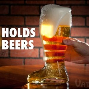 Hand-blown Glass Beer Boot