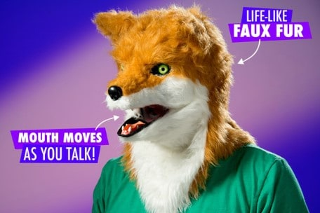 Creepy Animal Masks: They move when you talk!